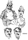 Cartoon: Chaplin Sketches 1 (small) by Milton tagged milton,knight,charles,charlie,chaplin,film,comedy