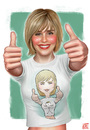 Cartoon: Alison Lohman T-shirt (small) by Freelah tagged alison,lohman