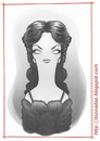 Cartoon: Barbara Steele (small) by Freelah tagged barbara,steele,cult,italian,horror,movies