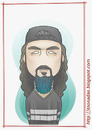 Cartoon: Mike Portnoy (small) by Freelah tagged mike,portnoy,metal,dream,theater