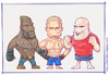 Cartoon: UFC Fighters (small) by Freelah tagged mma,fighters,champions