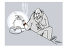 Cartoon: Glut (small) by Klaus Pitter tagged cigaret,ash,smoke