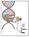 Cartoon: DNA (small) by Justinas tagged dna