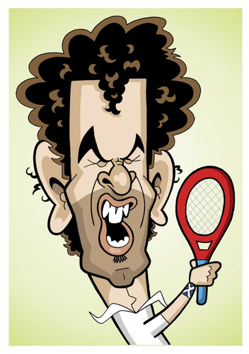 Cartoon: Andy Murray (medium) by Ca11an tagged andy,murray,scottish,british,caricature
