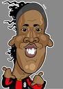 Cartoon: Ronaldinho AC Milan (small) by Ca11an tagged ronaldinho caricature