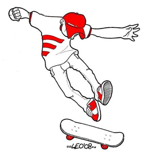 Cartoon: Skater - Leonardo Pandolfi (medium) by Leonardo Pandolfi tagged comics