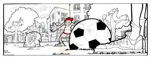 Cartoon: StreetSoccer (medium) by Leonardo Pandolfi tagged illustration