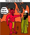 Cartoon: Anwar al-Awlaki new home (small) by Mewanta tagged anwar,al,awlaki