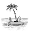 Cartoon: alien island (small) by r8r tagged alien,island,space,ufo,ocean,sad,palm,nasa,tree,sea,waiting