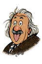 Cartoon: Einstein with tongue out (small) by r8r tagged albert,einstein,tongue,science,education,emc2,scientist