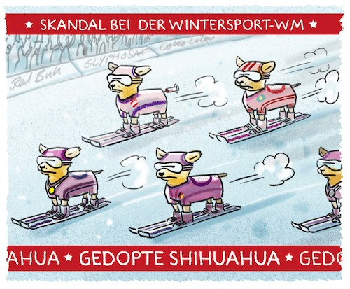 Cartoon: ...Seefeld... (medium) by markus-grolik tagged doping,wintersport,seefeld,spitzensport,spritzensport,langlauf,ski,skilanglauf,doping,wintersport,seefeld,spitzensport,spritzensport,langlauf,ski,skilanglauf