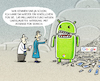 Cartoon: ... (small) by markus-grolik tagged google,unerlaubte,werbung,adsense,for,search,strafzahlung,europa,eu,wettbewerb,android,bruessel,usa,parlament,liberale,margrethe,vestager