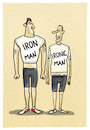 Cartoon: ...Ausdauersport... (small) by markus-grolik tagged ironman,sport,triaathlon,hawai,extremsport,mann,männerbild,gender,body