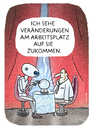 Cartoon: Industrie 4.0 (small) by markus-grolik tagged vierte,industrielle,revolution,industrie,arbeitsplatz,der,zukunft,automatisierung,logistik,arbeitgeber,arbeitnehmer,unternehmen,konzern,konzerne,cartoon,grolik