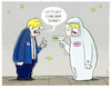Cartoon: Isolation... (small) by markus-grolik tagged boris,johnson,corona,quarantaene,london,pandemie,isolation