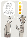 Cartoon: ...Kommunikation... (small) by markus-grolik tagged emoji,emojis,kommunikation,smartfon,sms,whats,app,facebook,likes,gespräch,talk