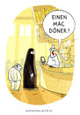Cartoon: Mac Döner (small) by markus-grolik tagged integration fast food schnellrestaurant döner doener burka türkei türke türkin deutschland imbiss verzehr
