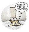 Cartoon: Pop-Up-Fenster...überall. (small) by markus-grolik tagged pop,up,werbung,spam,aufklapp,fenster,webseite,internet,computer,user,surfen,grolik,cartoon,technik,tech,pc,mac,free,mail,advertising,www,http,world,wide,web,netz,software,bug