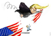 Cartoon: ...showdown... (small) by markus-grolik tagged usa,vorwahlen,wahlkampf,trump,donald,hilary,clinton,amerika,presidential,primaries,demokraten,republikaner,grolik