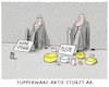 Cartoon: Tupperparty is over.. (small) by markus-grolik tagged tupperware,aktie,boerse,pleite,plastik