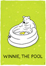 Cartoon: Winnie the pool (small) by markus-grolik tagged merchandising,pool,products,for,kids,children,classical,garden,gardening,summer,meadow,water,bathing