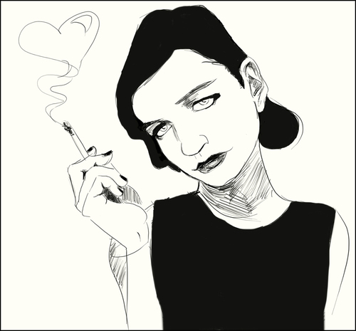 Cartoon: Molko Love (medium) by condemned2love tagged music