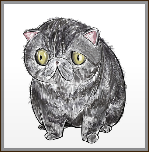Cartoon: my dream cat (medium) by condemned2love tagged cat,animals,kitty