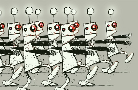 Cartoon: Robots romeria (medium) by Ivan Retamas tagged robots,romeria