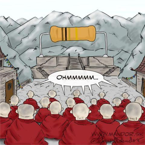 Cartoon: Tibet resistance movement (medium) by Mandor tagged resistance,tibet,ohm