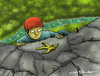 Cartoon: On the way up (small) by Mandor tagged climber,banana,peel