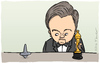 Cartoon: Oscar (small) by Mandor tagged leonardo,dicaprio,oscar,inception
