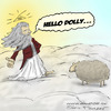 Cartoon: RIP Dolly (small) by Mandor tagged hello,dolly,sheep,clone