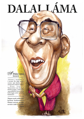 Cartoon: Dalai Lama (medium) by Szena tagged dalai,lama,budhism,tibet
