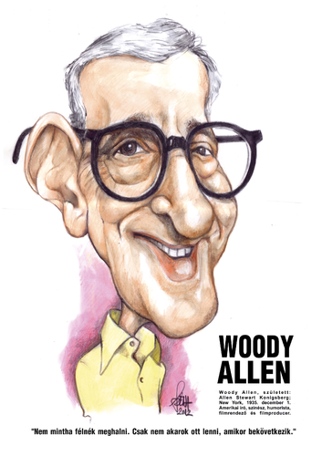 Cartoon: Woody Allen (medium) by Szena tagged woody,allen,author,band,director,usa,humor