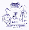 Cartoon: The Miracle of Hanukkah Updated (small) by Hearing Care Humor tagged hearing,aid,battery,hard,of,hanukkah