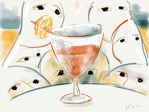 Cartoon: Cocktail (medium) by Kamil tagged cocktail,thirst,men,woman