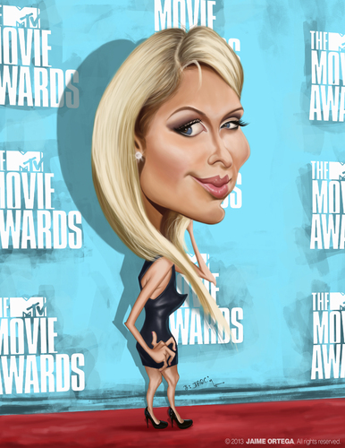 Cartoon: Paris Hilton (medium) by jaime ortega tagged hilton,paris