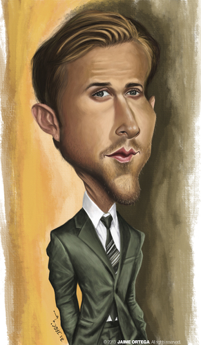 Cartoon: Ryan Gosling (medium) by jaime ortega tagged ryan,gosling