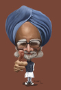 Cartoon: Manmohan Singh (small) by jaime ortega tagged manmohan singh