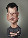 Cartoon: Matt Damon (small) by jaime ortega tagged matt,damon