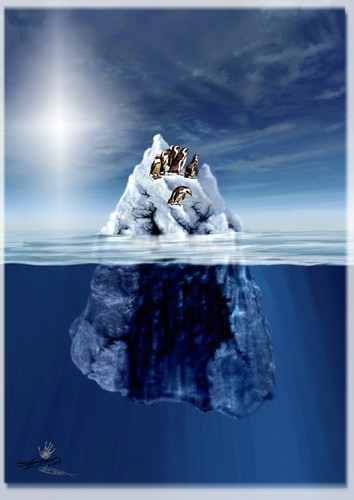 Cartoon: SOS_Icebergs Caries (medium) by LuciD tagged lucido