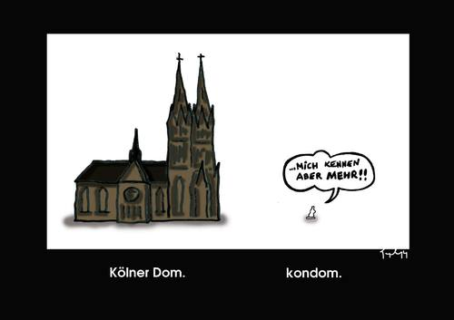 Cartoon: Köllendom (medium) by Marcus Trepesch tagged cologne,cathedral,condom