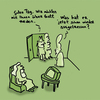 Cartoon: Talking about God (small) by Ludwig tagged god,zeugen,jehovas,gott,jehovahs,witnesses