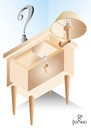 Cartoon: bedside table (small) by Tonho tagged bedside,table,escher,ilusion,distortion
