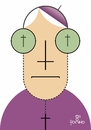 Cartoon: Bishop (small) by Tonho tagged bishop,church,cross,christ