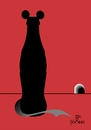 Cartoon: Rat in Coke (small) by Tonho tagged rat,mouse,coke,lack,of,hygiene