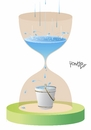 Cartoon: the rainy season (small) by Tonho tagged rain time hourglass