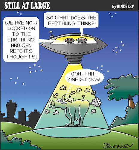 Cartoon: Still at large 99 (medium) by bindslev tagged ufo,ufos,alien,aliens,methane,emissions,fart,farts,farting,earthling,earthlings,flying,saucer,saucers,spaceship,spaceships,space,travel,abduction,abductions,passing,wind,sci,fi,science,fiction,ufo,ufos,alien,aliens,methane,emissions,fart,farts,farting,earthling,earthlings,flying,saucer,saucers,spaceship,spaceships,space,travel,abduction,abductions,passing,wind,sci,fi,science,fiction