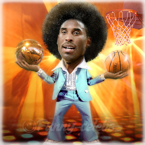 Cartoon: Kobe Bryant (medium) by funny-celebs tagged kobebryant,nba,losangeles,lakers,basketball,player,guard,allstars