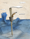 Cartoon: life in the sea (small) by aytrshnby tagged my,books